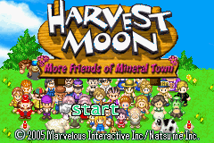 Harvest Moon - More Friends of Mineral Town Title Screen